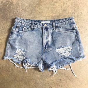 KanCan Distressed / Destroyed Cutoff Jean Shorts